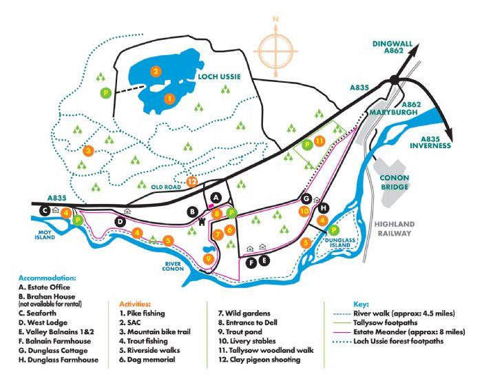 brahan estate walking map 2011